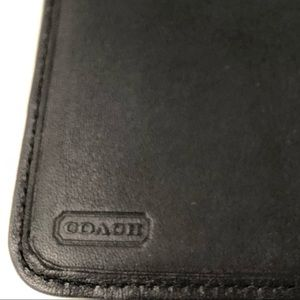 Coach Accessories - Coach black leather photo album
